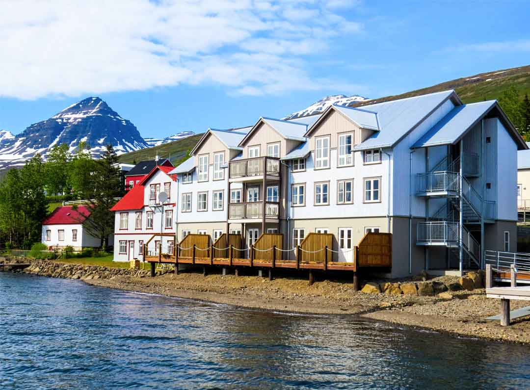 Fosshotel Eastfjords is a renovated french hospital