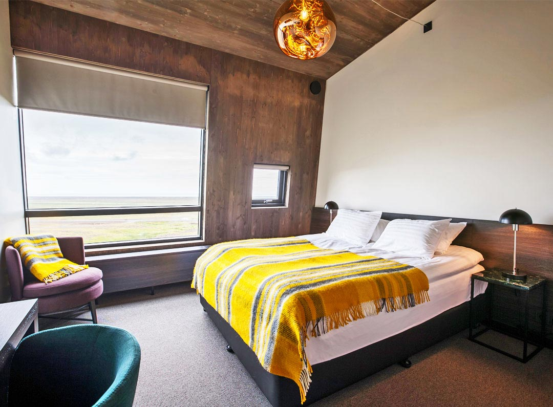 Deluxe room at Fosshotel Glacier Lagoon