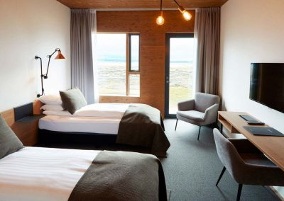 Twin double room at Fosshotel Myvatn