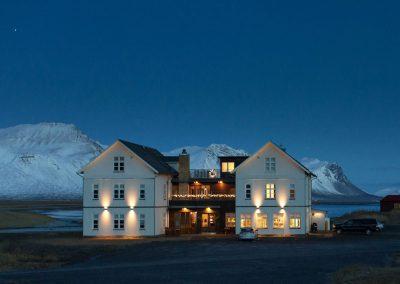 Hotel Budir in the evening
