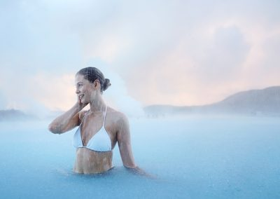 Woman enjoying the Blue Lagoon