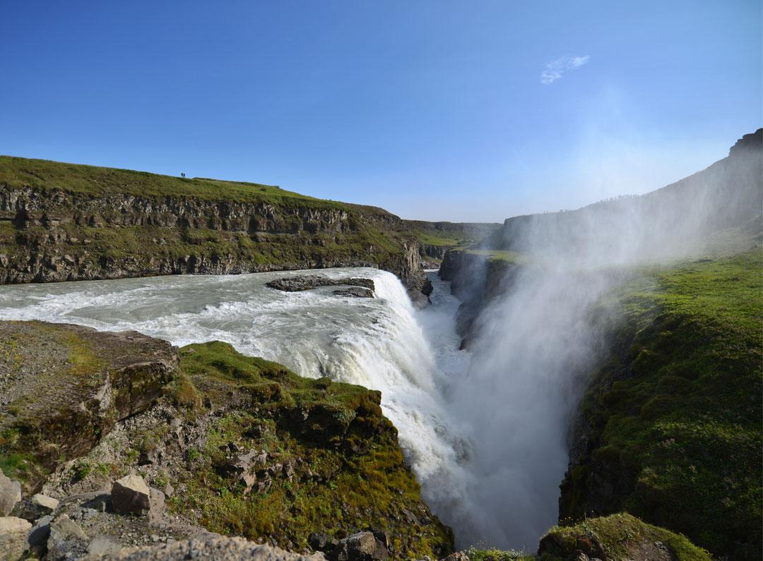 Powerful Gullfoss Waterfall in Iceland