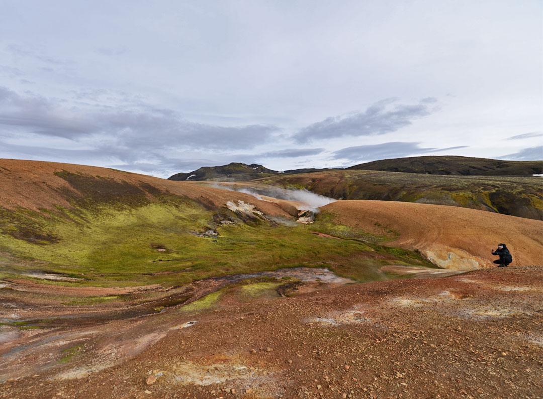 Red sand in Reykjadalir