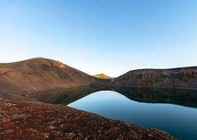 Hnausapollur Lake in Landmannalaugar Highlands