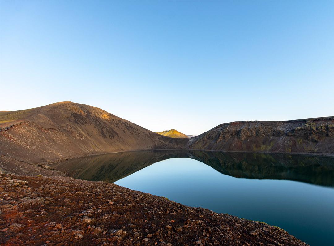 Hnausapollur in Iceland located in Landmannalaugar