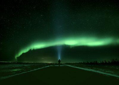 Northern Lights around the lighthouse