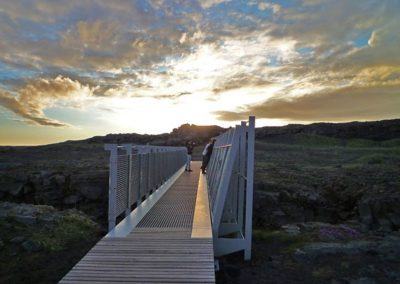Bridge between continents Reykjanes Iceland