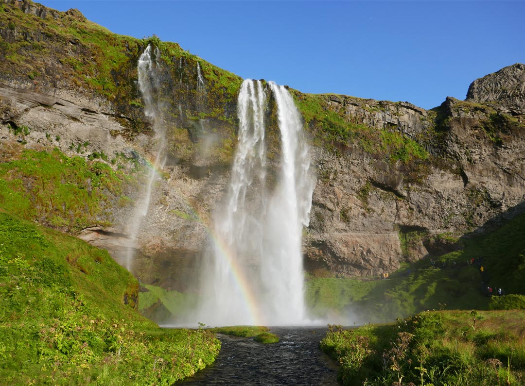 Seljalandsfoss waterfall during summer