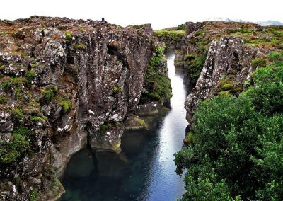 Waterfall in Þingvellir National Park