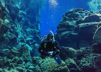 Diving in Silfra Fissure between the two tectonic plates