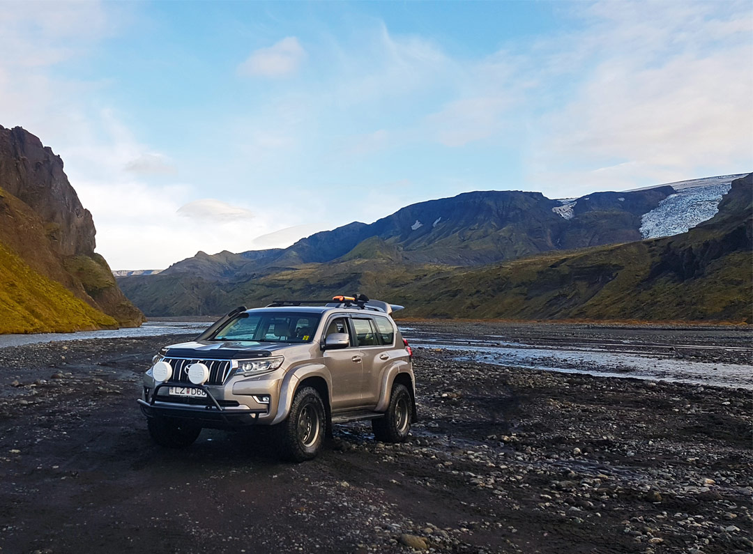 Our Landcruiser in Þórsmörk