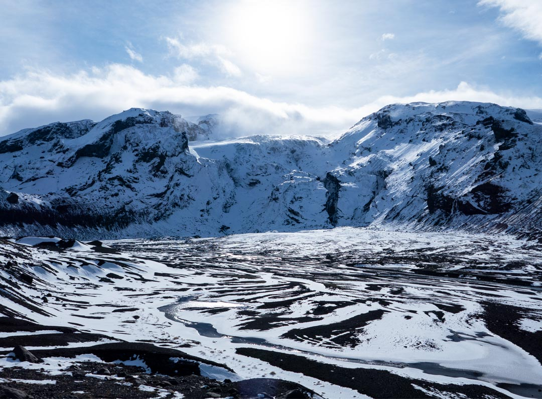 Thorsmork Nature Reserve during winter