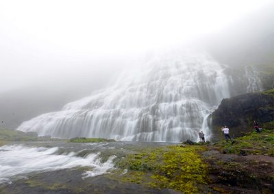 Dynjandi Waterfall in Westfjords in Iceland