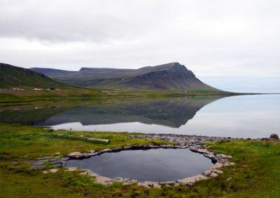 Krosslaug natural pool in Westfjords