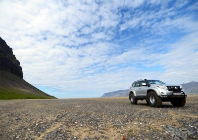 Super Jeep in Vaðall in Westfjords